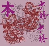 visage de dragon Photos stock