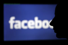 Visage de Facebook Photos stock
