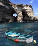 Visage de falaise de Gozo Photographie stock libre de droits