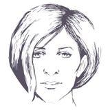 visage de femme illustration de vecteur