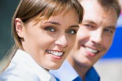 Visage de femme d'affaires Image libre de droits