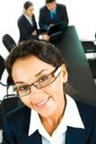 Visage de femme intelligente Photographie stock libre de droits