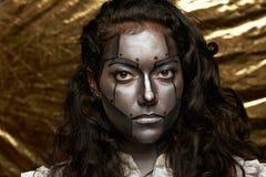 Visage de femmes de cyborg image libre de droits