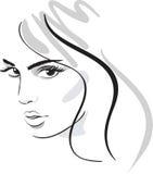 Visage de fille de beauté Image libre de droits