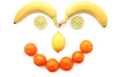 Visage de fruit Images libres de droits