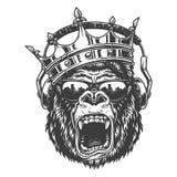 Visage de gorila de roi illustration de vecteur
