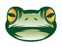 Visage de grenouille illustration de vecteur