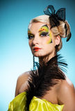 visage de guindineau de beauté d'art Photographie stock libre de droits