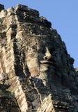 Visage de Jayavarman VII. Temple de Bayon, Cambodge Photographie stock libre de droits