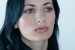 Visage de jeune femme Photographie stock libre de droits