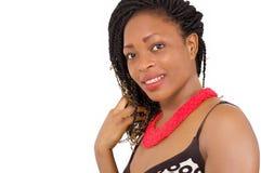 Visage de jeune femme heureuse Image libre de droits