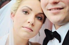 Visage de jeune mariée Photos stock