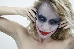 Visage 4 de joker Photo libre de droits