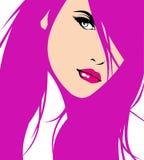 Visage de jolie femme Images libres de droits
