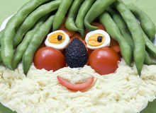 Visage de légumes image libre de droits