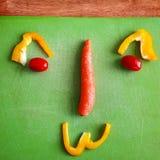 Visage de légumes images stock