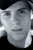Visage de l'adolescence de garçon Images libres de droits