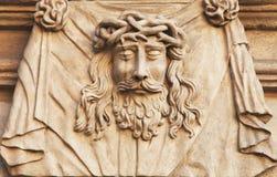 Visage de la couronne de Jesus Christ des épines (statue) Photos libres de droits