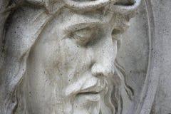 Visage de la couronne de Jesus Christ des épines (statue) Photographie stock libre de droits