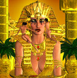 Visage de la reine de pharaon Photo stock