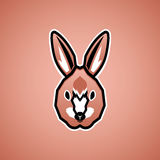 Visage de lapin illustration stock