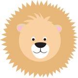 Visage de lion de dessin animé Photos stock