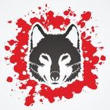 Visage de loup illustration de vecteur