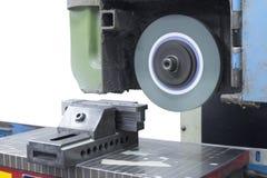 Visage de machine de meulage sur l'isolat supérieur Photographie stock libre de droits