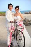 Visage de mariée et de marié asiatiques Images stock