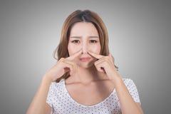 Visage de mauvaise odeur photo stock