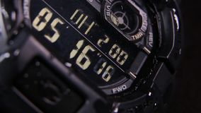 Visage de montre de Digital banque de vidéos