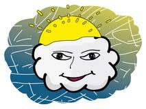 Visage de nuage Photo stock