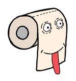 Visage de papier hygiénique Photos libres de droits
