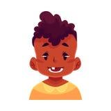 Visage de petit garçon, expression du visage de sourire Images stock