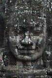 Visage de pierre de Bouddha au temple de Bayon photos stock