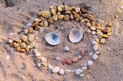 Visage de plage Photo libre de droits
