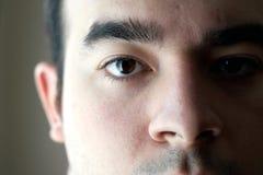 visage de plan rapproché Images stock