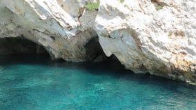 Visage de Poseidon, île de Zakynthos, Grèce Image libre de droits