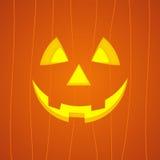 Visage de potiron de Halloween Image libre de droits