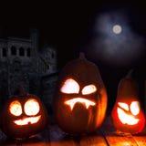 Visage de potiron de Halloween de lanternes de Jack o Photo stock