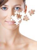 Visage de puzzle Photographie stock libre de droits