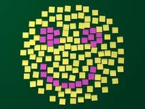 Visage de smiley de note de post-it Images libres de droits