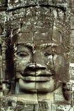 Visage de sourire - Angkor Wat, Cambodge Images libres de droits