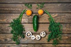 visage de sourire avec des légumes photographie stock libre de droits
