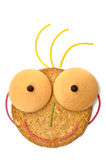 Visage de sourire de biscuit avec le cheveu Photos libres de droits