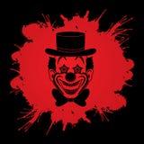 Visage de sourire de chef de clown Image stock