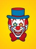 Visage de sourire de chef de clown Photographie stock libre de droits