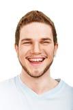 Visage de sourire de jeune homme images stock