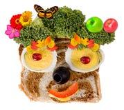 Visage de sourire de nourriture Photographie stock libre de droits