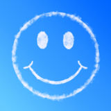 Visage de sourire de nuage Photos stock